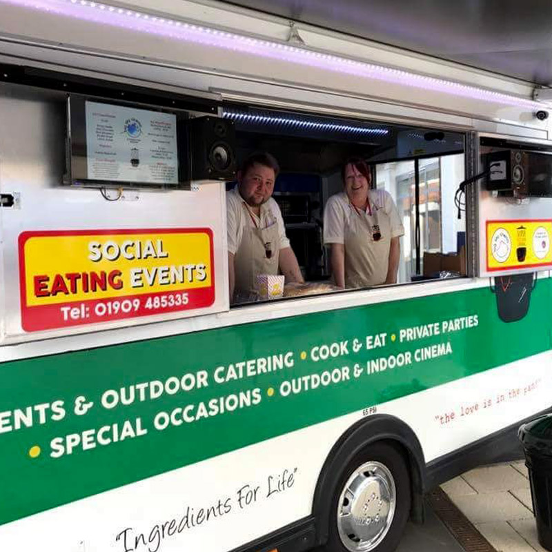 All large scale open air cinema catering events are supported by an addition mobile fridge/freezer van