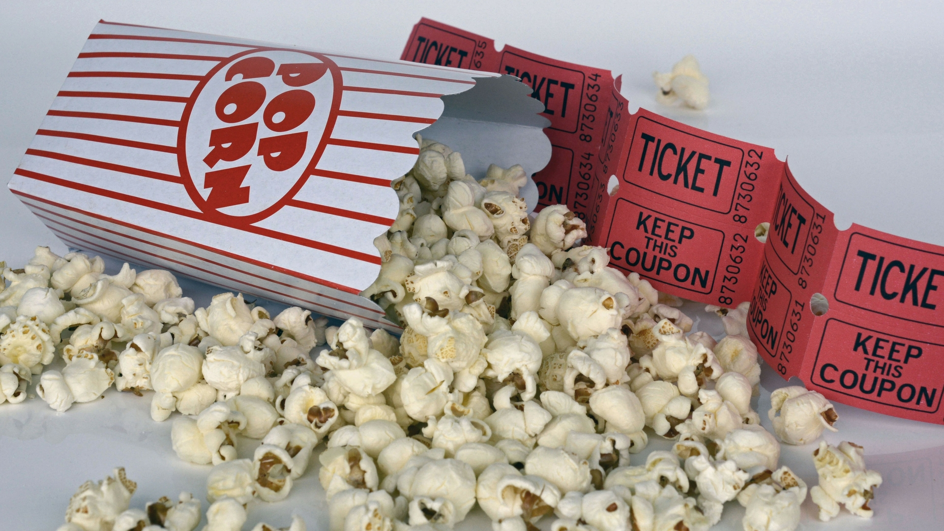 popcorn and tickets red image